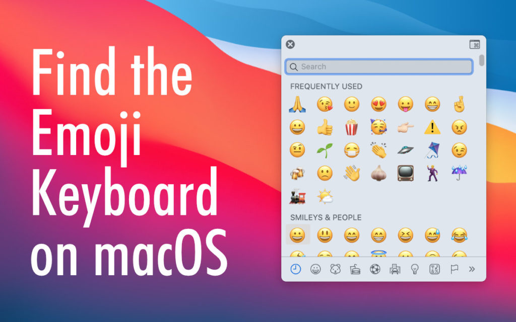 How to find the Emoji Keyboard on macOS